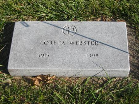 WEBSTER, LORETTA - Mahaska County, Iowa   LORETTA WEBSTER