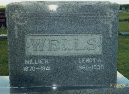 DUGGER WELLS, MILLIE H. - Mahaska County, Iowa | MILLIE H. DUGGER WELLS