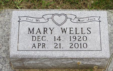 WELLS, MARY - Mahaska County, Iowa   MARY WELLS