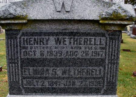 WETHERELL, ELMIRA S. - Mahaska County, Iowa   ELMIRA S. WETHERELL