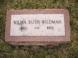WILDMAN, WILMA RUTH - Mahaska County, Iowa   WILMA RUTH WILDMAN