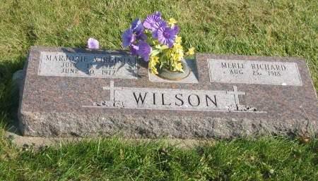 WILSON, MARJORIE VIRGINIA - Mahaska County, Iowa   MARJORIE VIRGINIA WILSON
