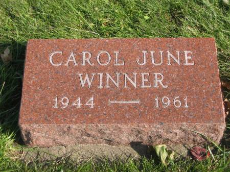 WINNER, CAROL JUNE - Mahaska County, Iowa | CAROL JUNE WINNER