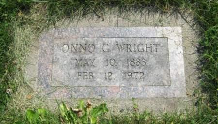 WRIGHT, ONNO G - Mahaska County, Iowa | ONNO G WRIGHT