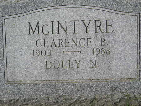 MCINTYRE, DOLLY N. - Marion County, Iowa   DOLLY N. MCINTYRE