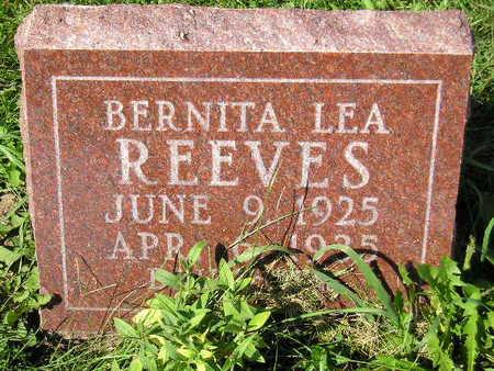 REEVES, BERNITA LEA - Marion County, Iowa | BERNITA LEA REEVES