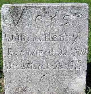 VIERS, WILLIAM HENRY - Marion County, Iowa | WILLIAM HENRY VIERS