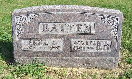 BATTEN, ANNA JANE - Marion County, Iowa | ANNA JANE BATTEN