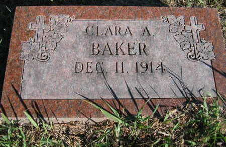 BAKER, CLARA A - Marion County, Iowa   CLARA A BAKER