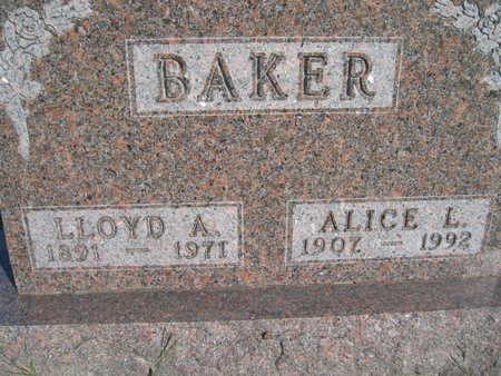 BAKER, ALICE L - Marion County, Iowa | ALICE L BAKER