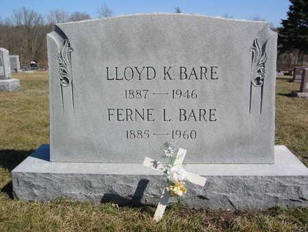 BARE, LLOYD K. - Marion County, Iowa | LLOYD K. BARE