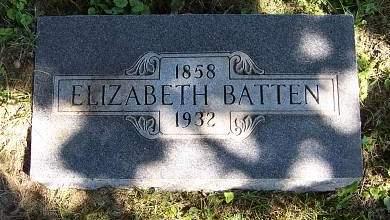 BUZZARD BATTEN, ELIZABETH - Marion County, Iowa   ELIZABETH BUZZARD BATTEN