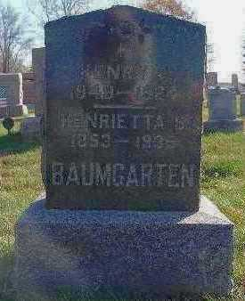 BAUMGARTEN, HENRIETTA S. - Marion County, Iowa   HENRIETTA S. BAUMGARTEN