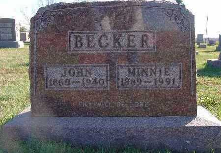 BECKER, MINNIE - Marion County, Iowa   MINNIE BECKER