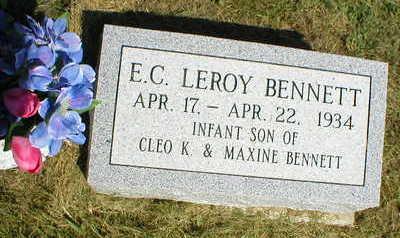 BENNETT, E.C. LEROY - Marion County, Iowa | E.C. LEROY BENNETT