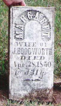 BOODWORTH (BLOODSWORTH), MARGARET - Marion County, Iowa | MARGARET BOODWORTH (BLOODSWORTH)