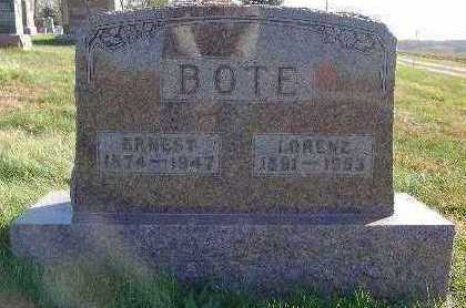 BOTE, ERNEST - Marion County, Iowa | ERNEST BOTE