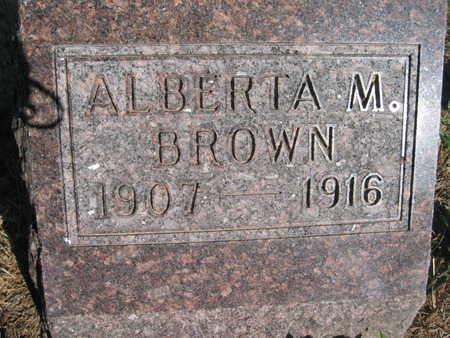 BROWN, ALBERTA M - Marion County, Iowa   ALBERTA M BROWN
