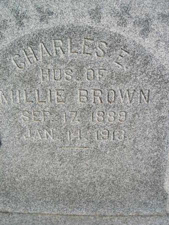 BROWN, CHARLES E - Marion County, Iowa | CHARLES E BROWN