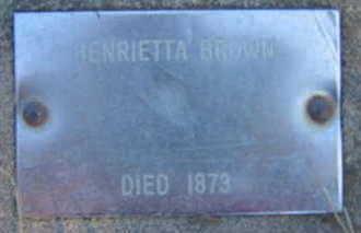 BROWN, HENRIETTA - Marion County, Iowa | HENRIETTA BROWN