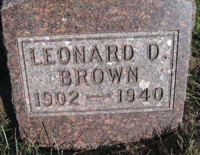 BROWN, LEONARD - Marion County, Iowa | LEONARD BROWN