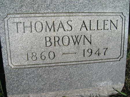 BROWN, THOMAS ALLEN - Marion County, Iowa | THOMAS ALLEN BROWN