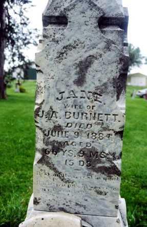 BURNETT, NANCY JANE - Marion County, Iowa | NANCY JANE BURNETT