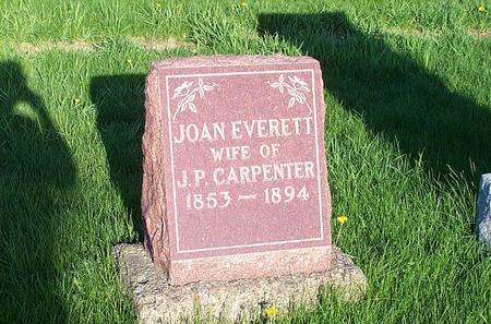 EVERETT CARPENTER, JOAN - Marion County, Iowa | JOAN EVERETT CARPENTER