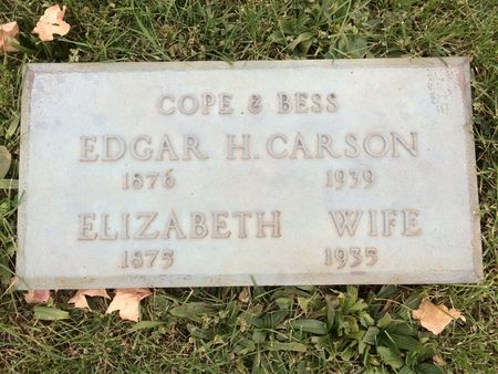 CARSON, EDGAR H. - Marion County, Iowa   EDGAR H. CARSON
