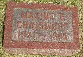 CHRISMORE, MAXINE E. - Marion County, Iowa | MAXINE E. CHRISMORE