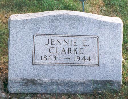 CLARKE, JENNIE - Marion County, Iowa | JENNIE CLARKE