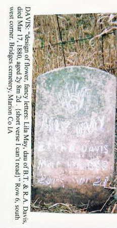DAVIS, LILA MAY - Marion County, Iowa   LILA MAY DAVIS