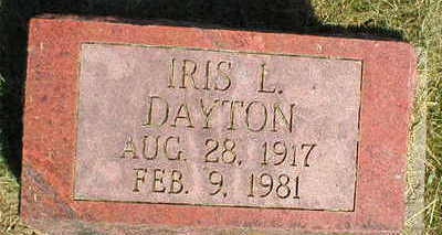 DAYTON, IRIS L. - Marion County, Iowa | IRIS L. DAYTON
