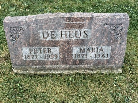 DE HEUS, PETER - Marion County, Iowa | PETER DE HEUS