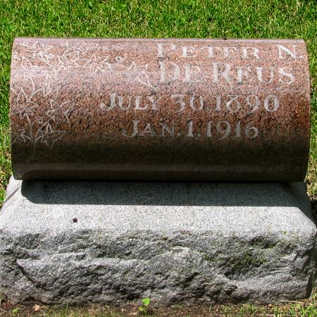 DE REUS, PETER N - Marion County, Iowa   PETER N DE REUS