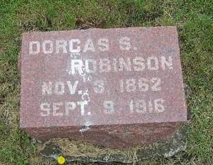 ROBINSON, DORCAS S. - Marion County, Iowa   DORCAS S. ROBINSON