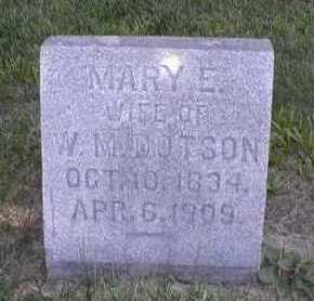 DOTSON, MARY ELIZABETH - Marion County, Iowa | MARY ELIZABETH DOTSON