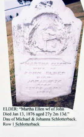 ELDER, MARTHA ELLEN - Marion County, Iowa | MARTHA ELLEN ELDER