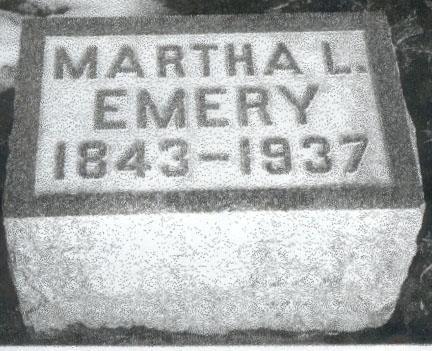 EMERY, MARTHA LUCINDA - Marion County, Iowa | MARTHA LUCINDA EMERY