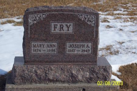 FRY, MARY - Marion County, Iowa | MARY FRY