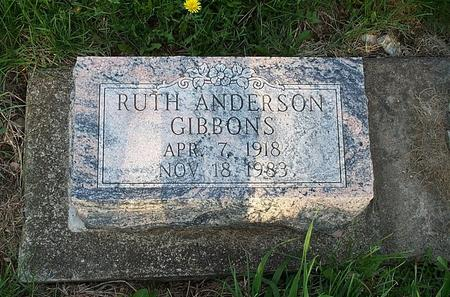 ANDERSON GIBBONS, RUTH - Marion County, Iowa | RUTH ANDERSON GIBBONS