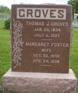 FOSTER GROVES, MARGARET - Marion County, Iowa   MARGARET FOSTER GROVES