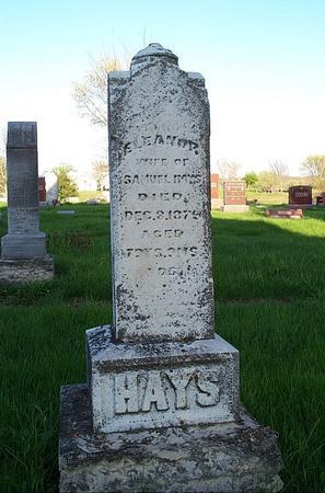 HAYS, ELEANOR - Marion County, Iowa | ELEANOR HAYS