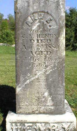 HENRY, ANN E. - Marion County, Iowa   ANN E. HENRY