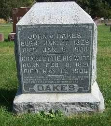 OAKES, CHARLOTTIE BATTEN - Marion County, Iowa | CHARLOTTIE BATTEN OAKES
