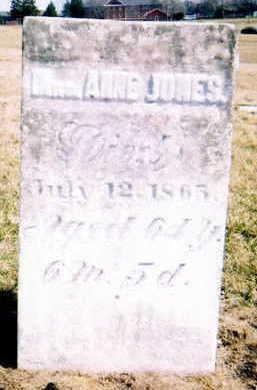 MAPLE JONES, ANNA - Marion County, Iowa   ANNA MAPLE JONES