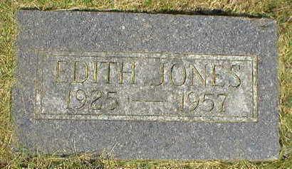 JONES, EDITH - Marion County, Iowa   EDITH JONES