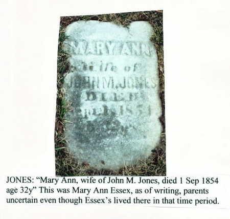 ESSEX JONES, MARY ANN - Marion County, Iowa | MARY ANN ESSEX JONES