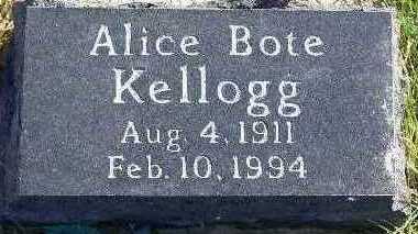 BOTE KELLOGG, ALICE - Marion County, Iowa | ALICE BOTE KELLOGG