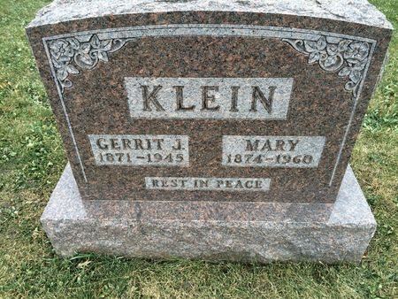 KLEIN, GERRIT J. - Marion County, Iowa | GERRIT J. KLEIN